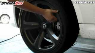 Оклейка колесных дисков BMW пленкой под карбон 3M Di-Noc(Купить пленку можно на http://avtoplenka.com/ На видео наглядно показано как за короткое время можно декорировать..., 2013-02-19T05:53:17.000Z)