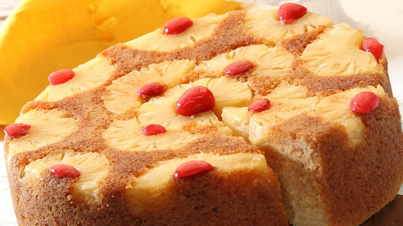 Eggless Pineapple Cake Recipe In Pressure Cooker