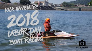 Lock Haven, PA Labor Day Weekend Power Boats 2018