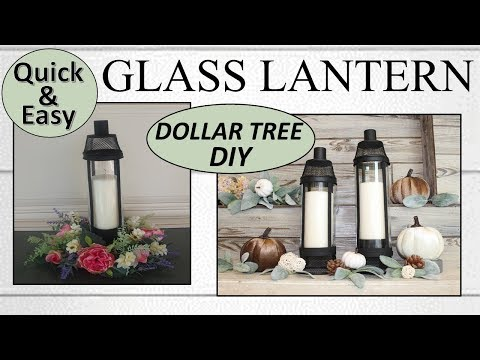 Quick and Easy DIY Lantern | Dollar Tree DIY | Farmhouse Lantern (2019)