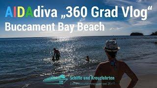 Buccament Bay Strand auf St. Vincent - 360 Grad Vlog - AIDAdiva Karibische Inseln 1 Reisebericht