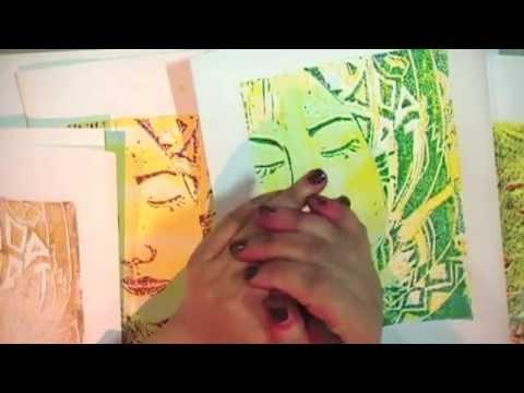 Lino cutting and printing