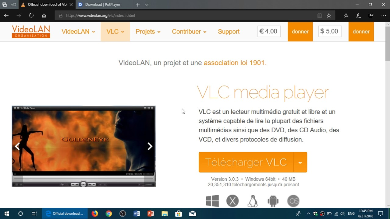 Windows 10 April 2018 Best Multimedia players Daum Potplayer and VLC still  Rule my list