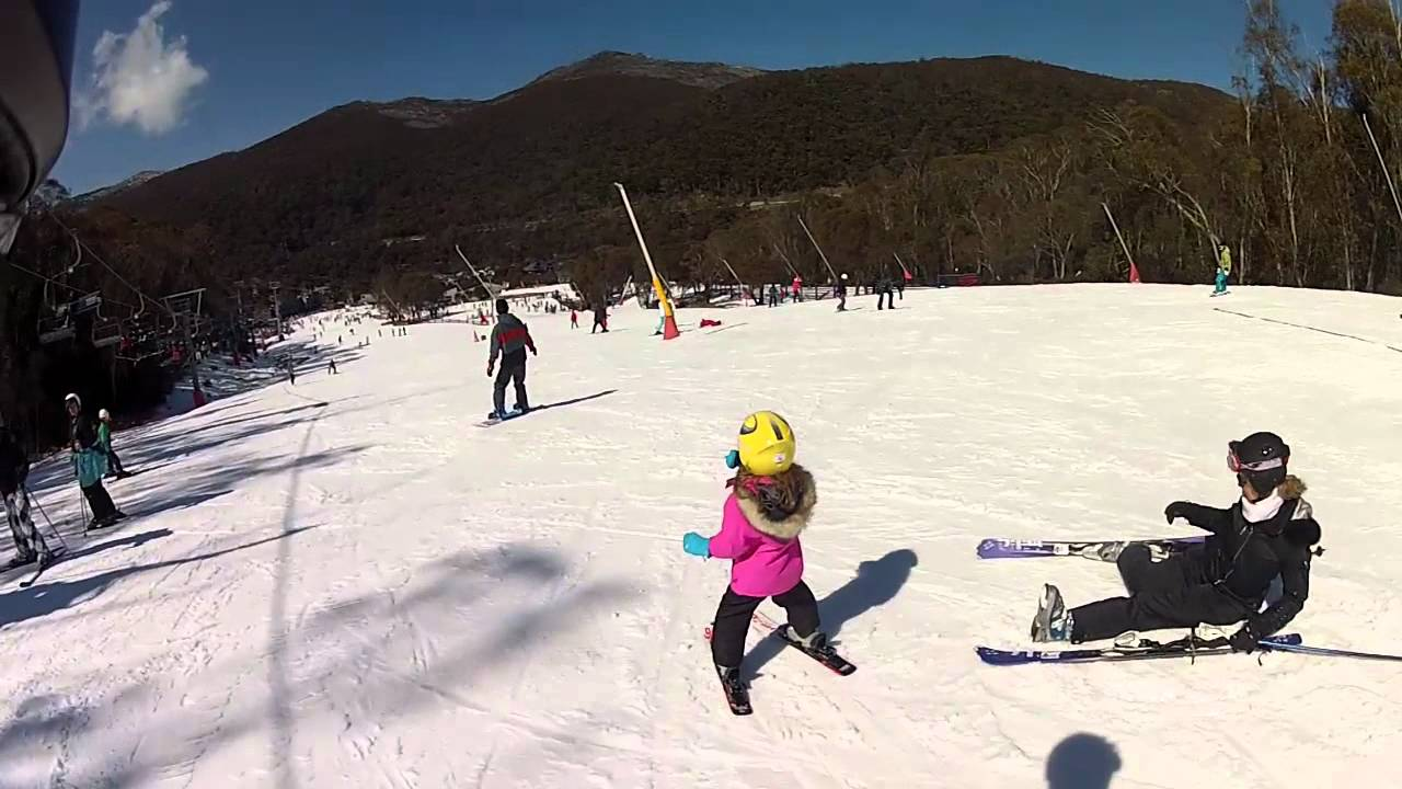 Thredbo First Time Ski 4 Year Old Aleyah Youtube
