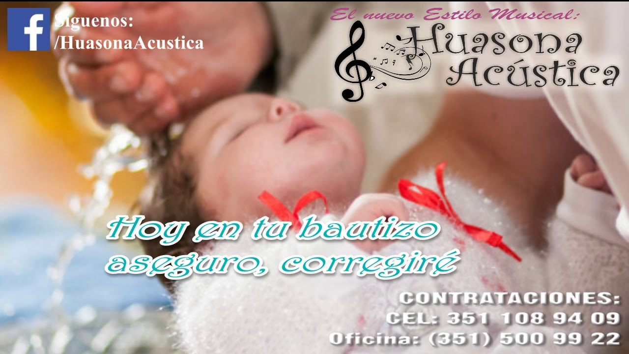 Cancion De Bautizo Hoy En Tu Bautizo Youtube
