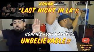 Konan - Last Night In LA [@konanplaydirty] | GRM Daily (Thatfire Reaction)