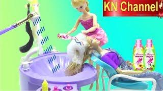Đồ chơi trẻ em BÉ NA GỘI ĐẦU CHO BÚP BÊ  KN Channel BẰNG DẦU GỘI ĐẦU TỰ CHẾ TỪ TRÁI DỪA Make Shampoo