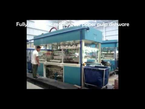 Fully Automatic Paper Plate Making Machine / Pulp Molding Equipment for Tableware