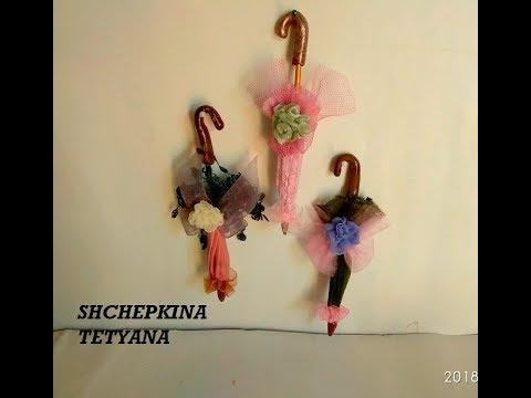 Зонт для куклы своими руками. Как сделать зонтик.Аксессуары для кукол. .Sombrillas De Epoca. 3ч