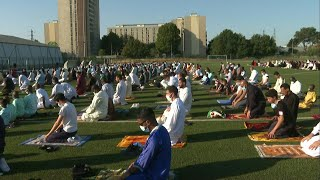 Muslims pray to celebrate Eid outside Paris | AFP