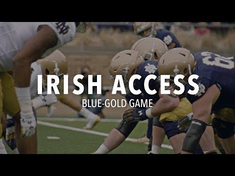 Irish Access | @NDFootball Blue-Gold Game (2018)