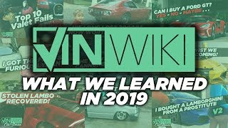 Here's what VINwiki learned in 2019