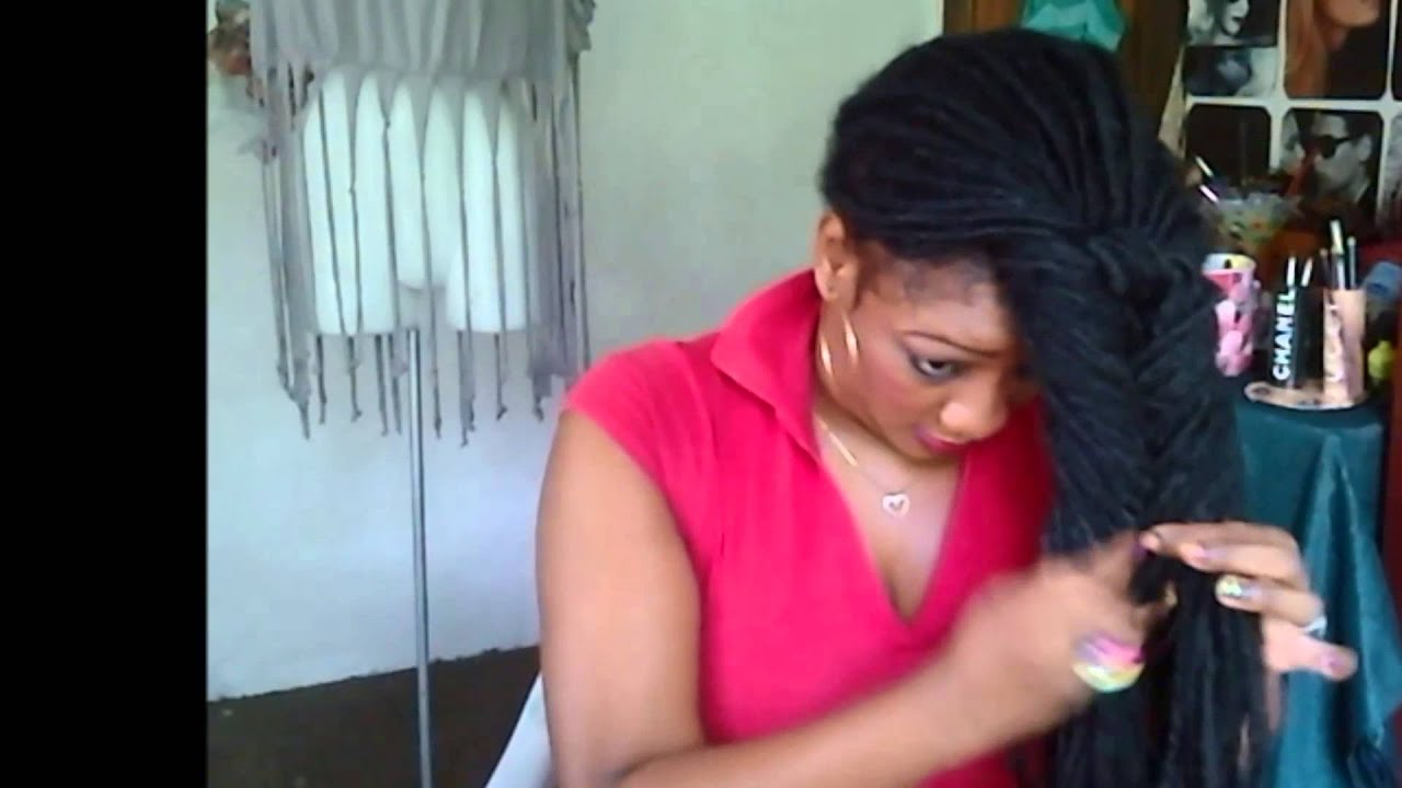 Dreadlocks Hairstyle Fishtail Updo Youtube