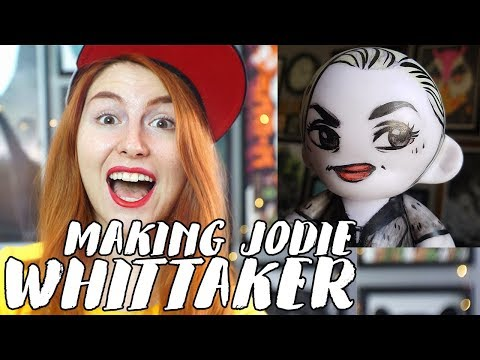 Drawing Doctor Who's Jodie Whittaker on a Munny Doll // Rad Art with Beth Be Rad | SNARLED