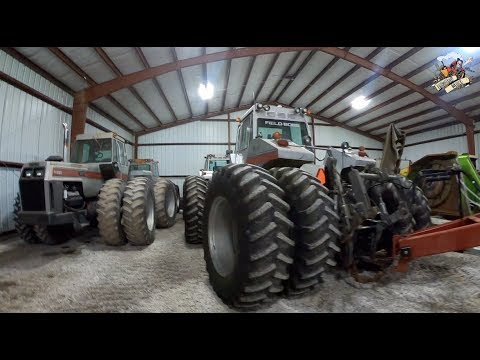 Awesome White Farm Equipment Tractor Collection in Southern Illinois