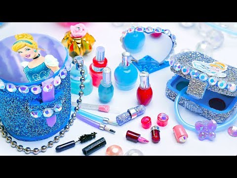 18 DIY Miniature Cinderella Cosmetics ~ Eyeshadow palette, Sequin Backpack and more!