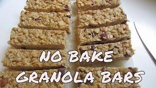 Easy No Bake Gluten Free Granola Bars