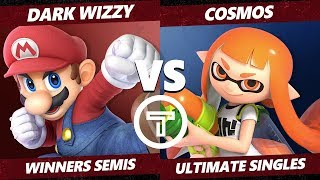Thunder Smash 3 SSBU - MVG Dark Wizzy (Mario) VS PG Cosmos (Inkling) Smash Ultimate Winners Semis