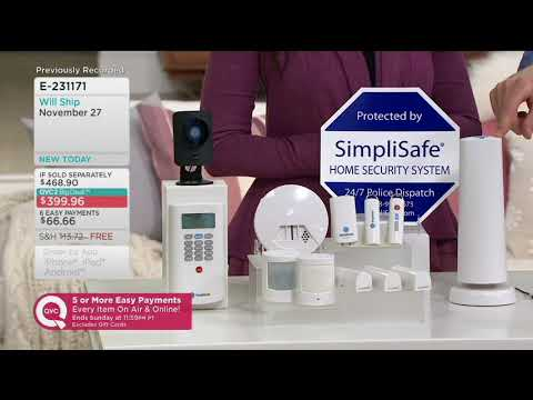 SimpliSafe 13 Piece Home Security System w/ HD Camera & Smoke Detector on QVC