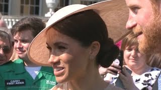 Prince Harry and Meghan attend first event as newlyweds