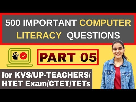 500 Questions of Computer Awareness/ICT | for KVS- PRT,TGT