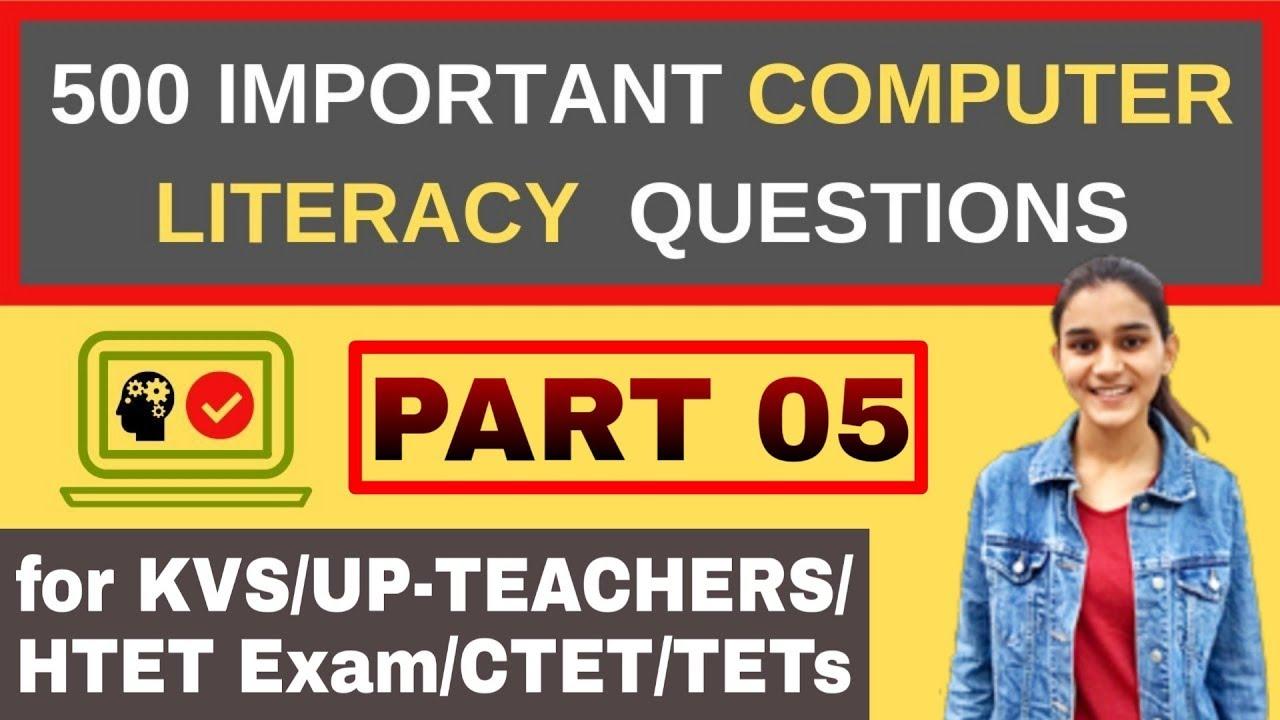500 Questions of Computer Awareness/ICT | for KVS- PRT,TGT,PGT & SUPER-TET  | Part-05