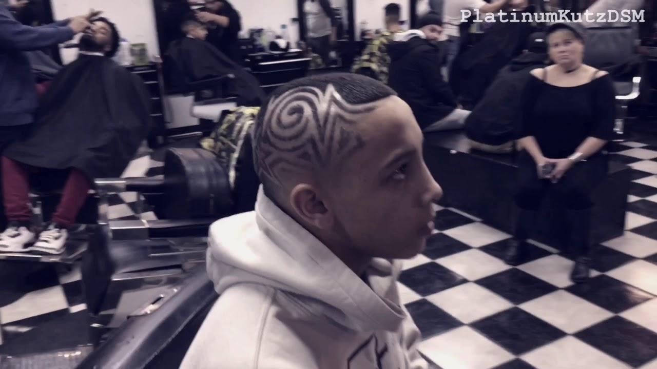 Best Barber In Iowa Haircut Design Platinumkutz Barbershop Des
