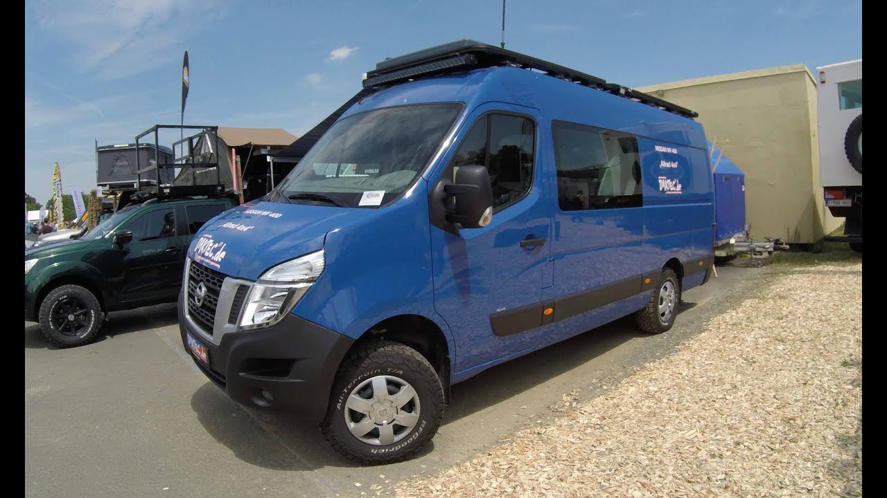Nissan Nv 400 4x4 Awd Blue Colour Van Transporter Walkaround Model 2017