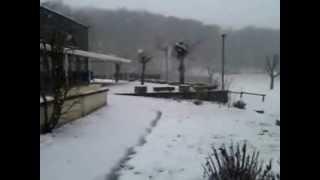 Le Camping La Romiguiere sous la Neige (21 janvier 2013)