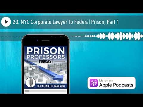20. NYC Corporate Lawyer To Federal Prison, Part 1