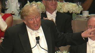 Clinton, Trump roast each other at Al Smith dinner