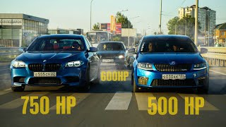 САМАЯ ЗЛАЯ ШКОДА ОКТАВИЯ в РОССИИ против TOYOTA CHASER и BMW M5.