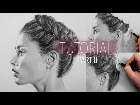 How to draw realistic hair (braid) Part 2 | Step by Step Drawing Tutorial