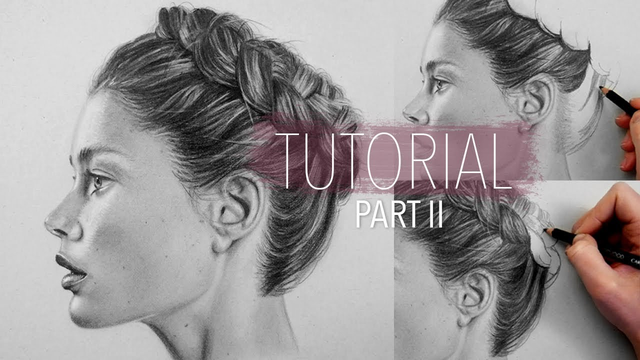how to draw realistic hair braid part 2 step by step