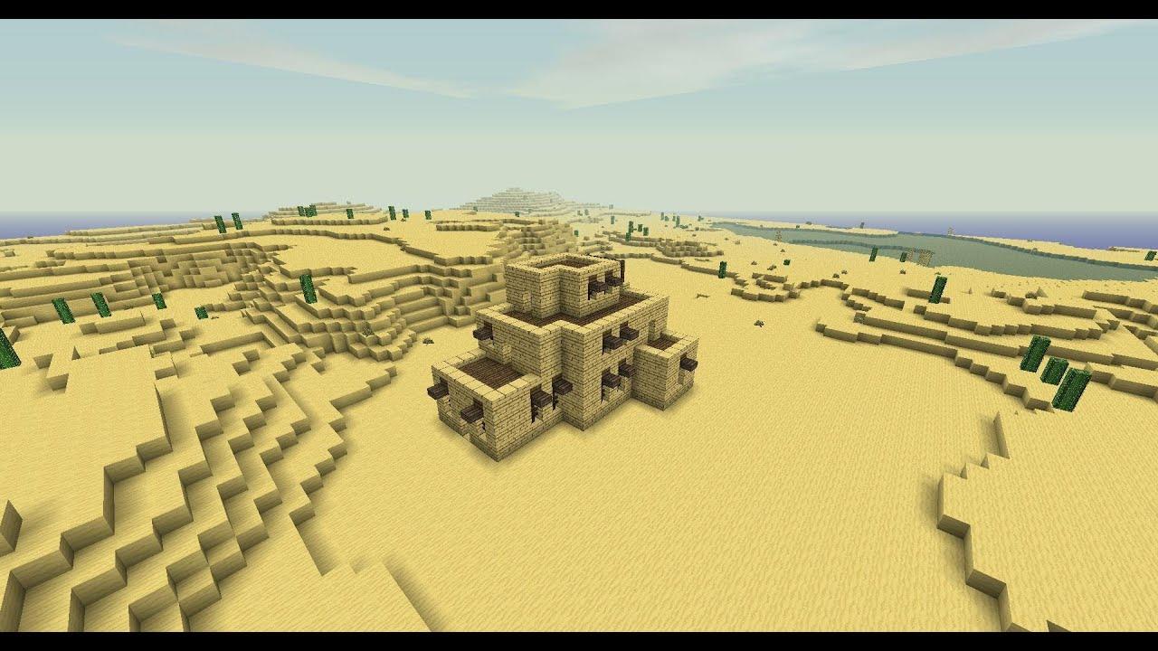 Minecraft - Desert house tutorial - YouTube
