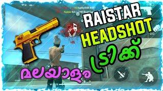 Free fire desert eagle one tap headshot trick Malayalam part 1    Raistar one tap headshot tricks