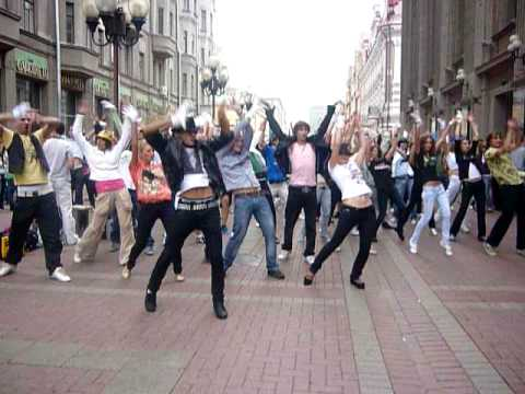 FlashMob в Москве. Michael Jackson Tribute АРБАТ 29.08.2009