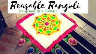 A Rangoli that can be used as Wall Decor | Go Green this Diwali 2018