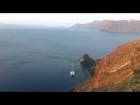 Sunrise from Helianthus Suites in Oia, Santorini, Greece