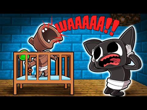 Cartoon Cat Meets BABY SIREN HEAD! (Minecraft)