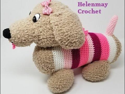 Amigurumi Sausage Dog - PDF Daschund Crochet Pa... - Folksy | 360x480