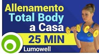 Allenamento Total Body a Casa per Dimagrire e Tonificare il Corpo