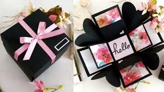 DIY ♡ Caja explosiva súper elegante para tu novio / a | Erandy Paz