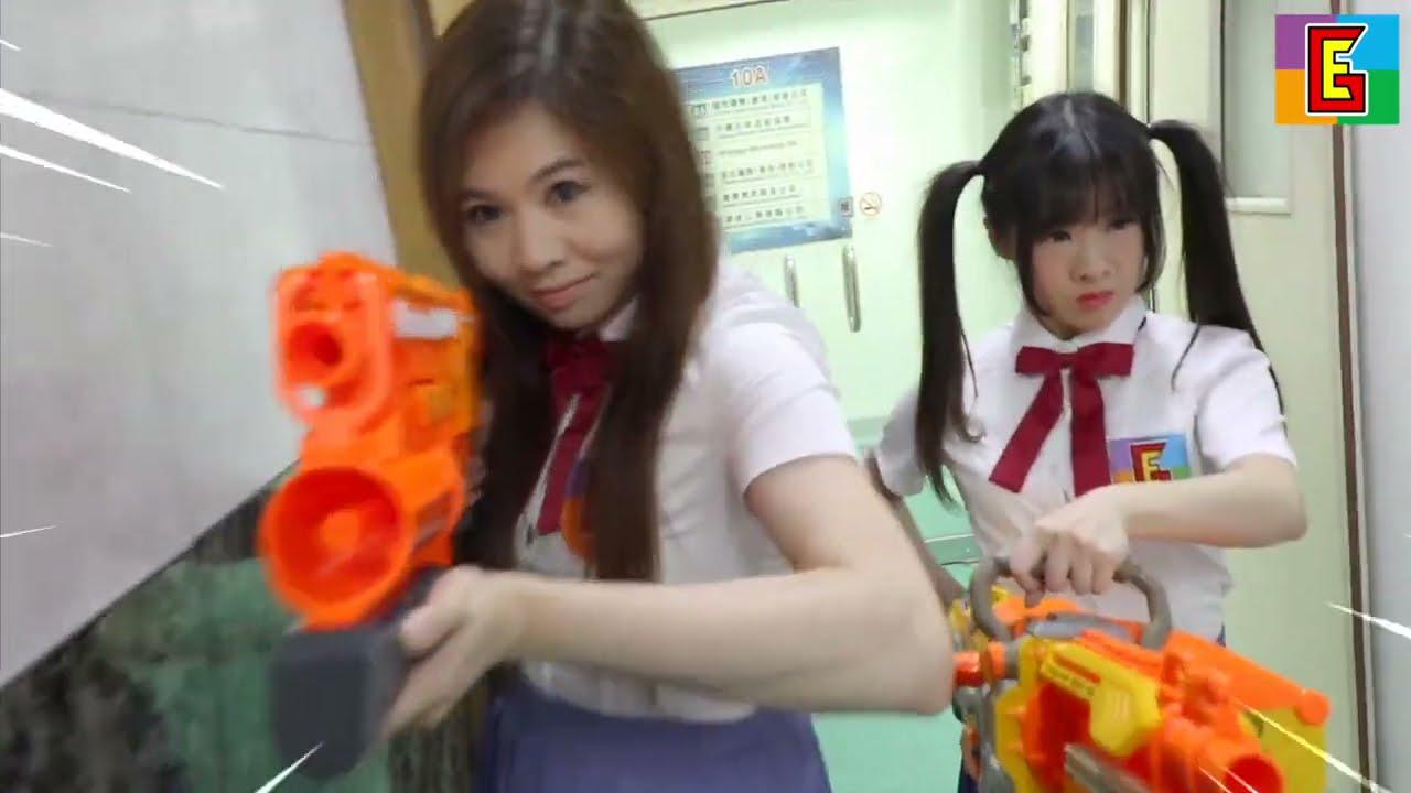 EPIC SCHOOL FIGHT 🔥 中二病 Nerf War Battle : Gun Kata ガン カタ