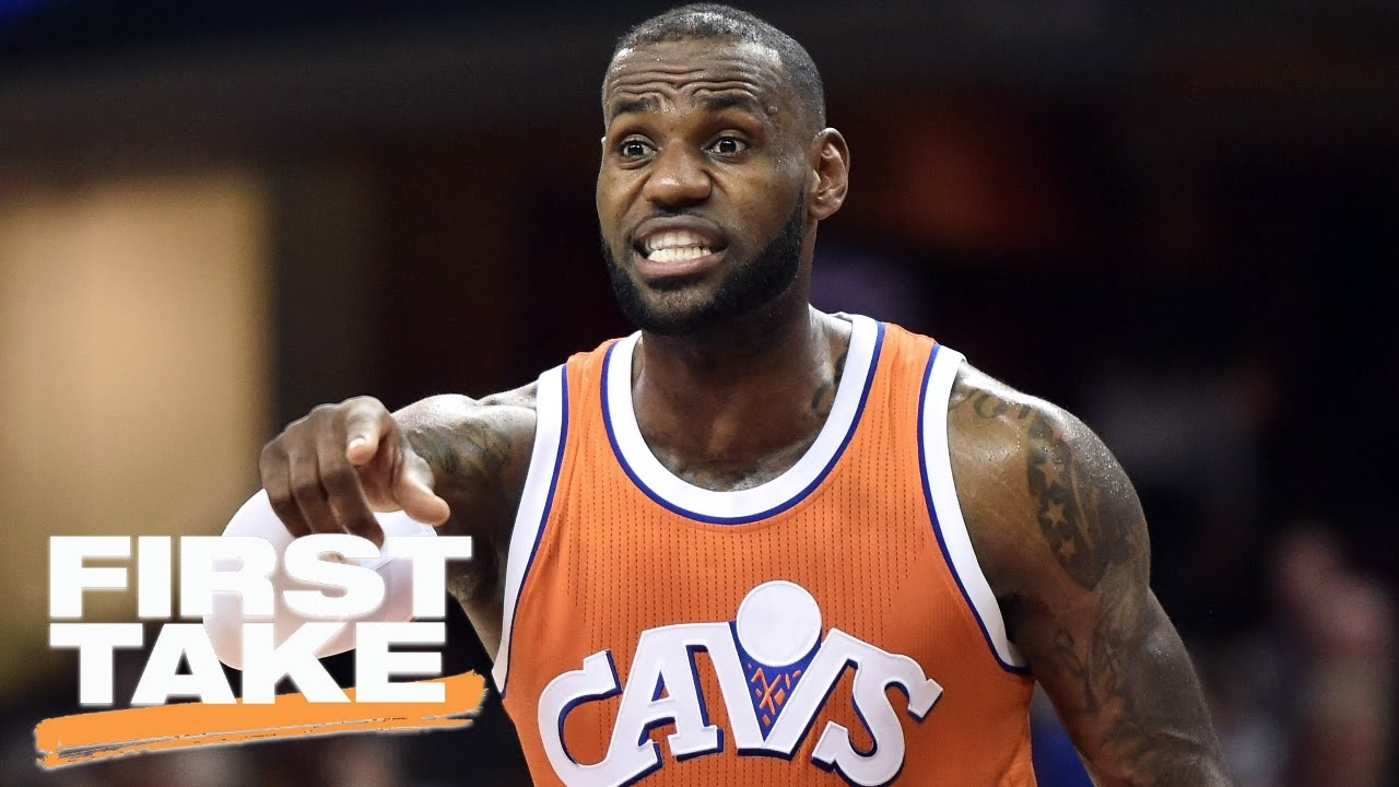 hot sale online 80ec2 54665 LeBron James   Cry Baby  Tendencies Are Nothing New   First Take   April 3,  2016