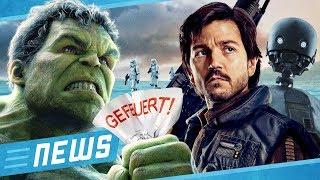 Hulk von Avengers 4 gefeuert  & Star Wars Rogue One Prequel kommt - FLIPPS News