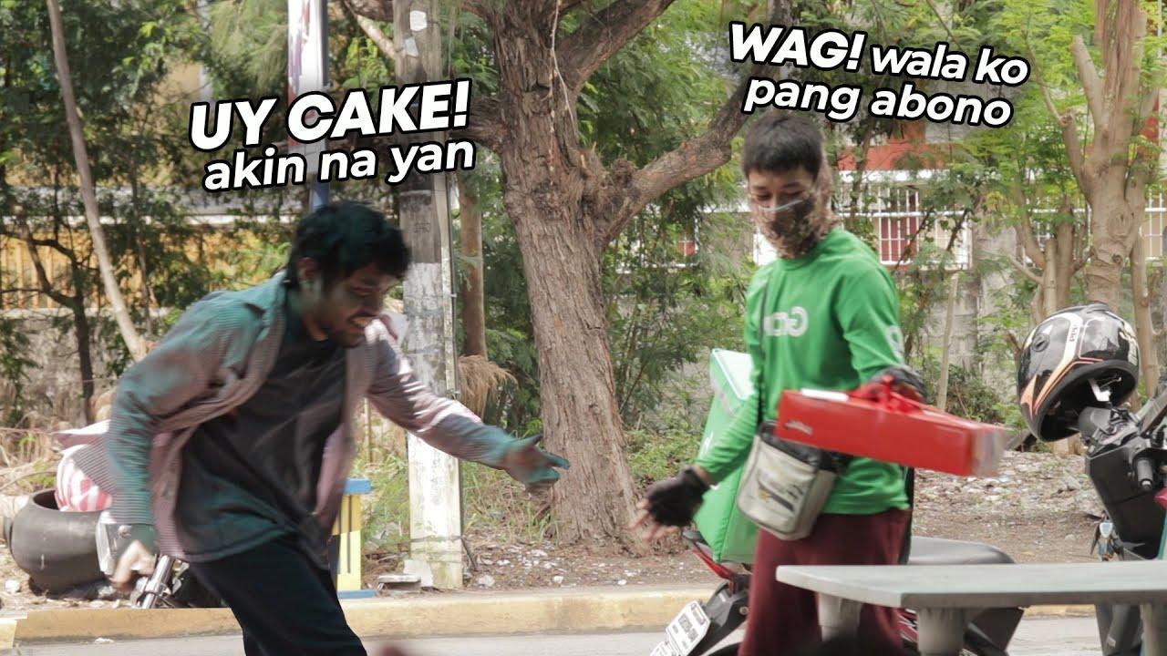 TAONG GRASA Umorder sa GRAB Food Delivery PRANK   Part 2