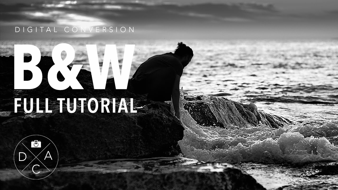 Digital black and white conversion in photoshop full tutorial