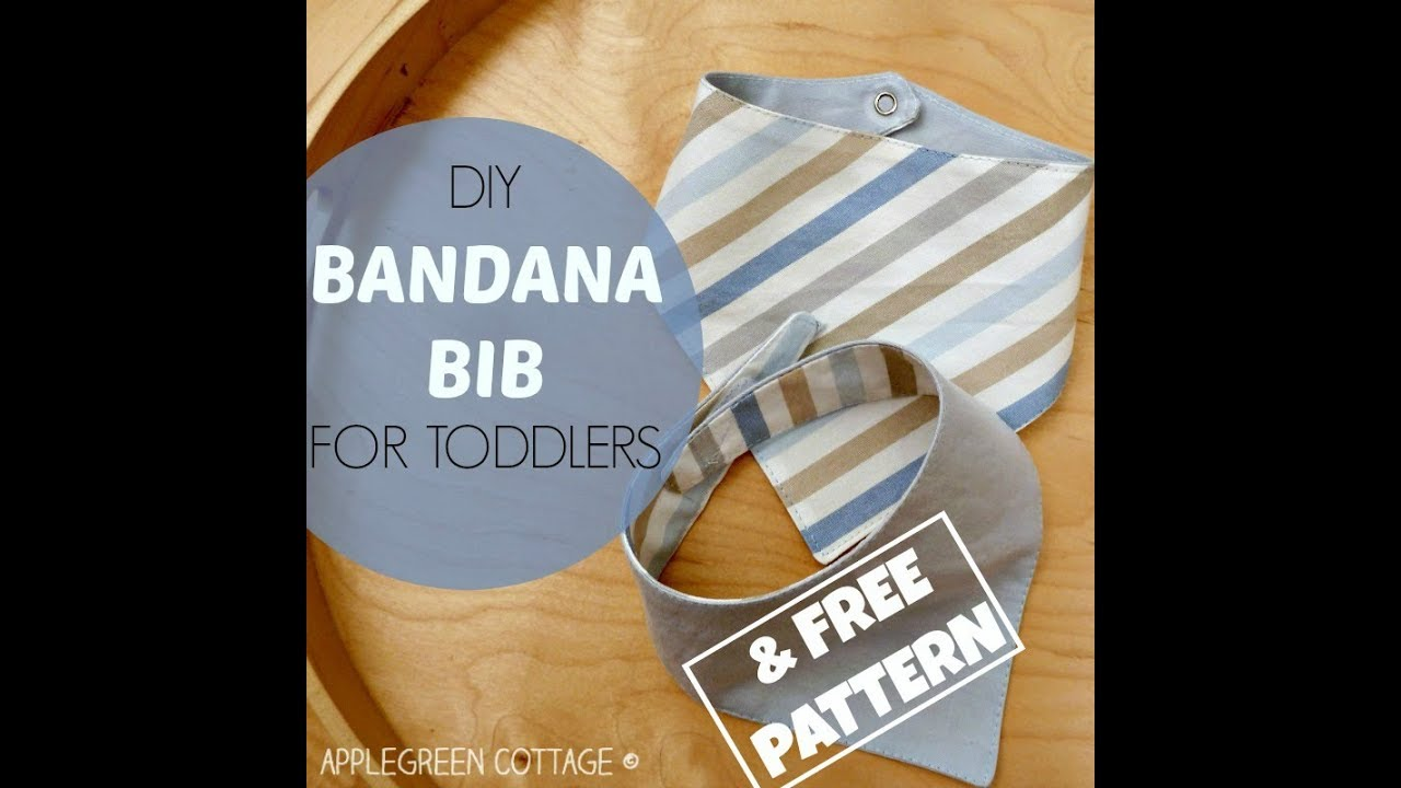 Bandana bib tutorial with a free pattern youtube bandana bib tutorial with a free pattern baditri Images