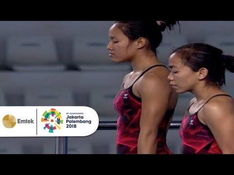 Highlight Diving Women's Synchronised 10m Platform  Asian Games 2018. Mp3